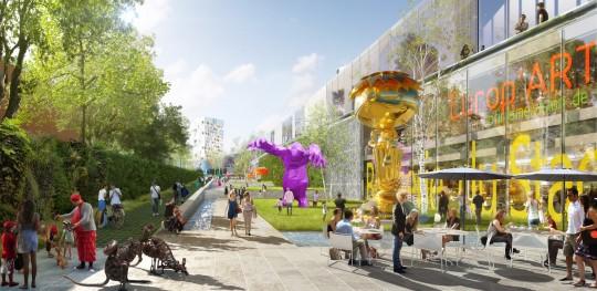 Image de communication - UNIBAIL - Promoteur - Centre commercial NEO à Bruxelles