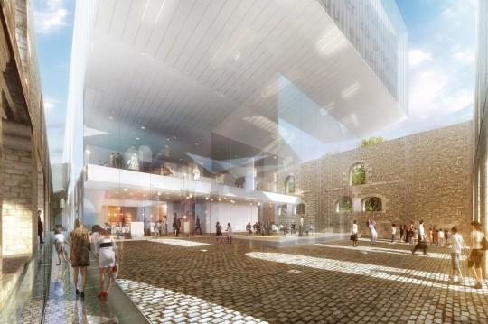 Perspective de concours - Agence Vezzoni & Associés - Architectes - Archives de Bordeaux
