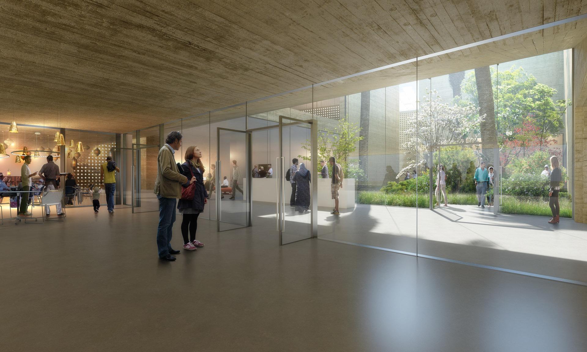 Perspective de concours - Agence Vezzoni & Associés - Architectes - Musée Dakhal à Marrakech