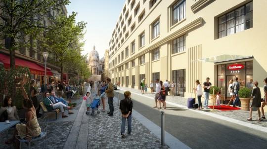 Perspective de communication - Eiffage - Promoteur - Bâtiment Le Castel SNCM - Marseille