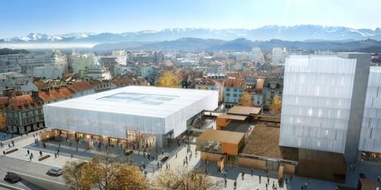 Perspective de concours_LCR Architectes_Complexe de la Republique à Pau