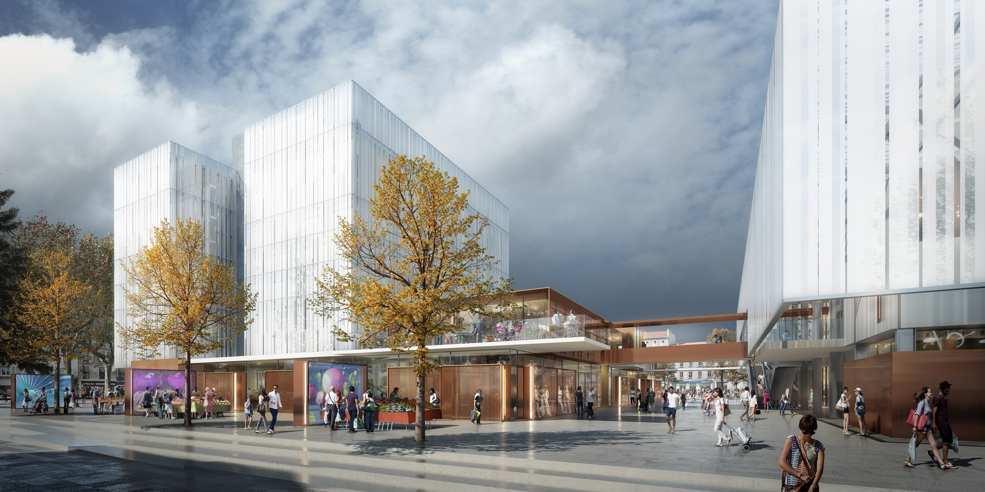 Perspective de concours_LCR_Architectes_Complexe de la Republique a Pau_