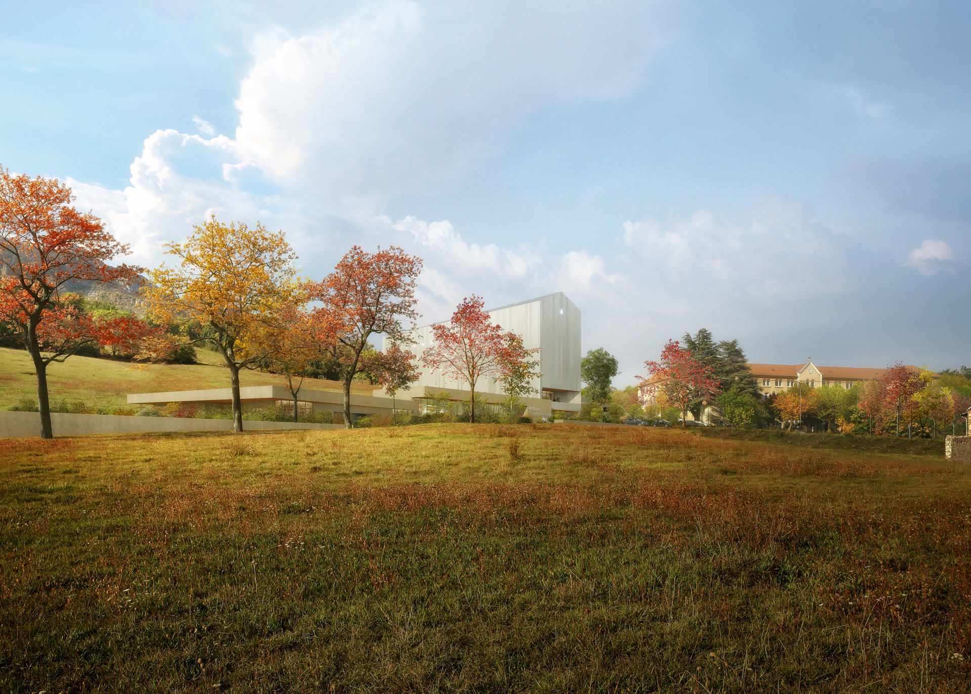 Perspective de concours_VEZZONI & Associés_Architectes_ARCHIVES GAP