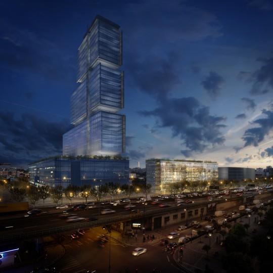 Image immobilière_VEZZONI & Associés_Architectes_Bureaux Batignolles Icade