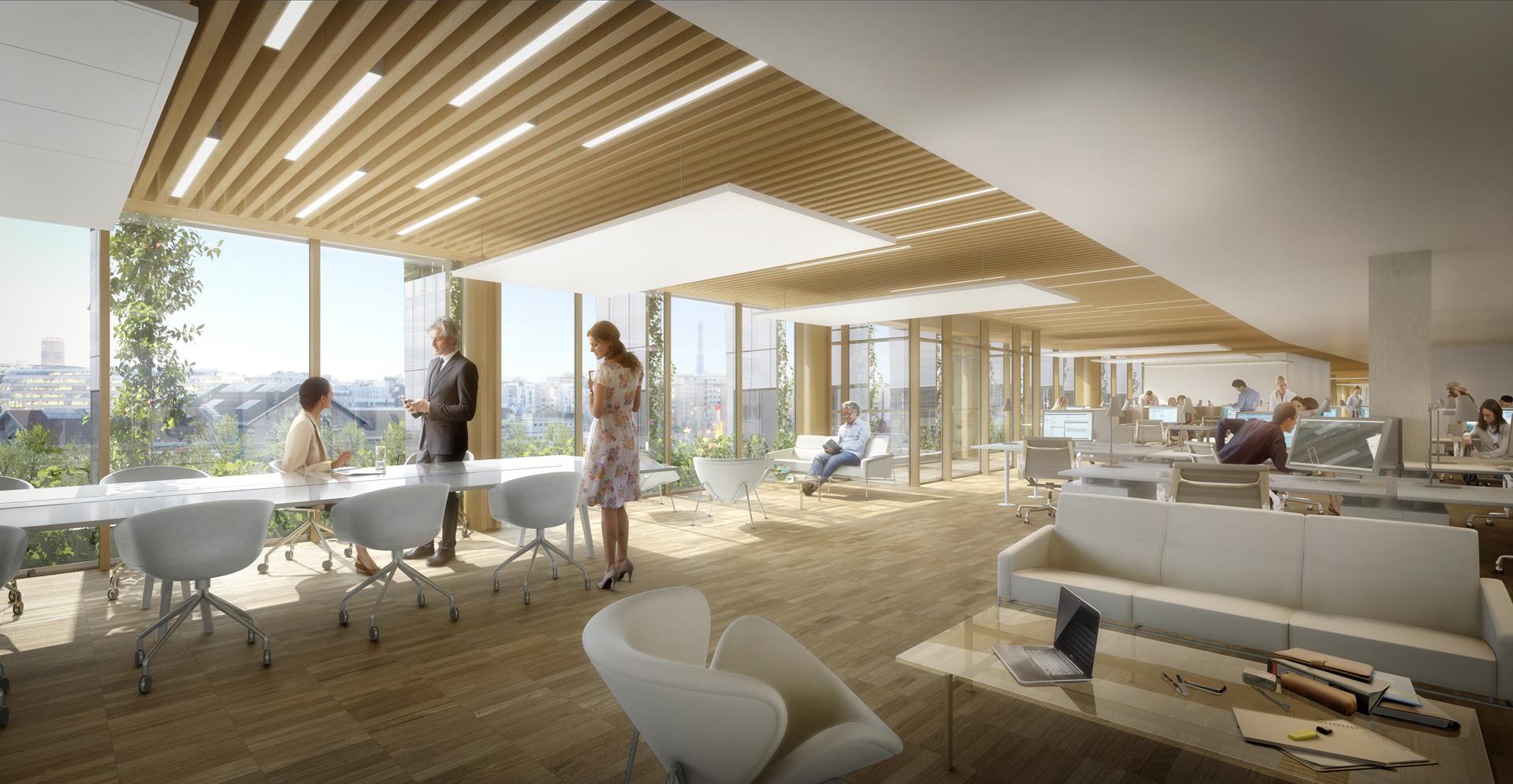 Perspective immoblière_VEZZONI & Associés_Architectes_Bureaux Batignolles Icade