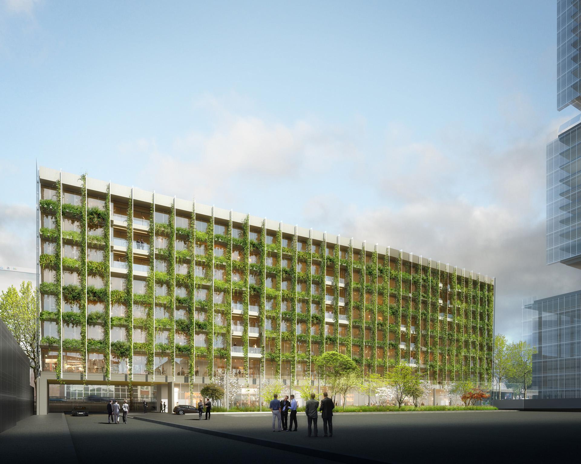 Perspective immobilière_VEZZONI & Associés_Architectes_Bureaux Batignolles Icade