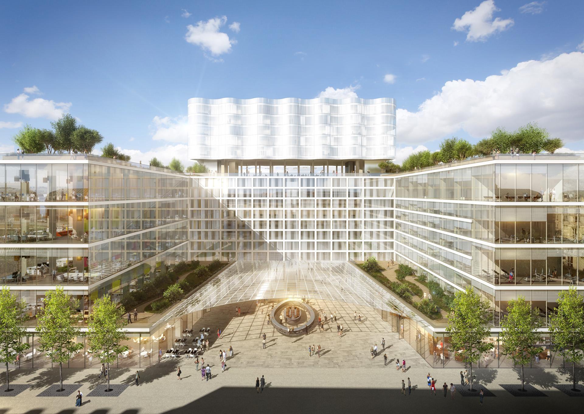 Brunet Saunier Architectes-Réinventer Paris-Perspective de concours