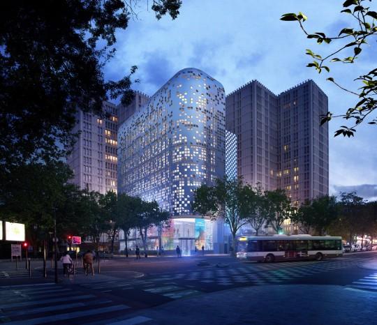 BLEAS & LEROY Architectes-Réinventer Paris-Perspective de concours
