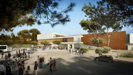 COLOGEN-Frédéric Pasqualini Architectes-Collège Saint-Raphaël- Perspectives de concours