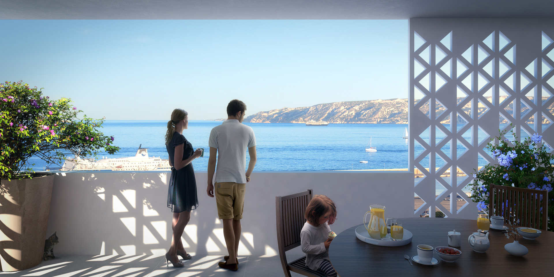 EIFFAGE- Atelier 82-Perspective immoblière-Projet Allar Marseille