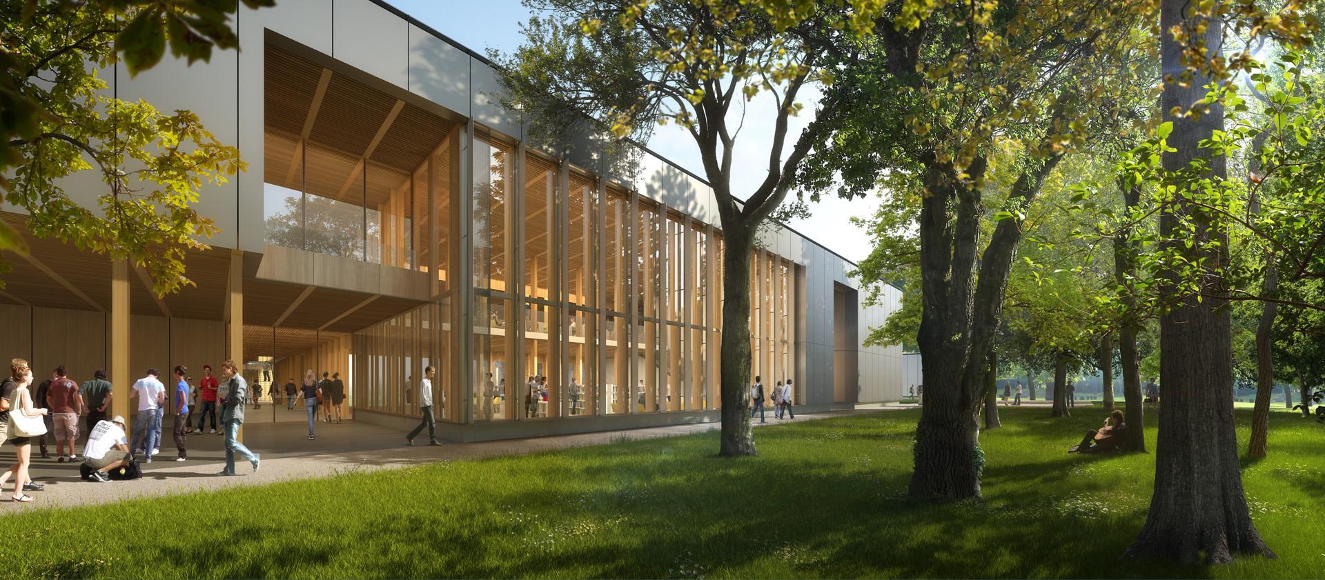 Gautier+Conquet Architectes-Perspectives de concours- Lycée Agricole Roanne Chervé