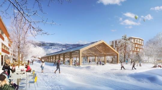 GAUTIER+CONQUET ARCHITECTURES-Station de ski à Chamrousse_Perspectives de concours