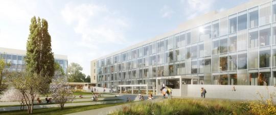 GCC_Groupe 6_ARCHITECTES_Lyloperreau_Perspective de concours_Campus la Doua Lyon
