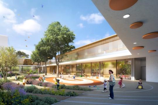 MDR ARCHITECTES-Perspective de concours_Groupe Scolaire OVALIE Montpellier