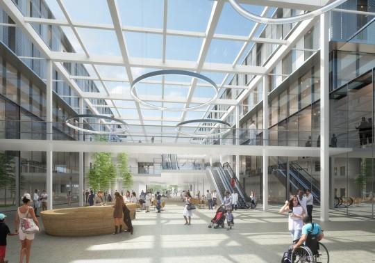 Perspective de concours_NICKL ARCHITEKTEN_Hôpital de Lens