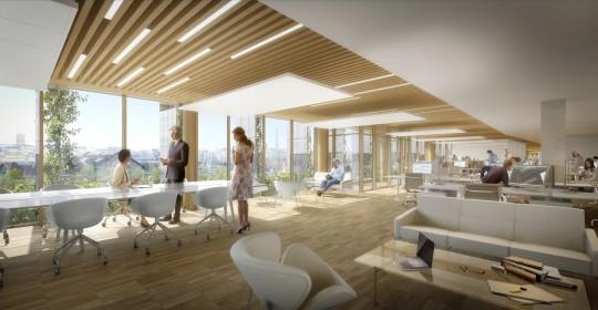 VEZZONI Architectes-Bureaux Batignolles-Perspectives de concours