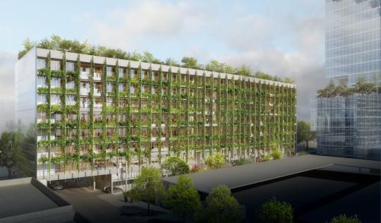 VEZZONI Architectes-Bureaux Batignolles-Perspective de concours