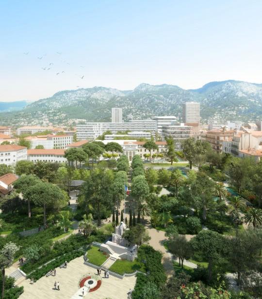 VEZZONI Architecte-Quartier de la créativité et de la connaissance Toulon-Perspective de concours