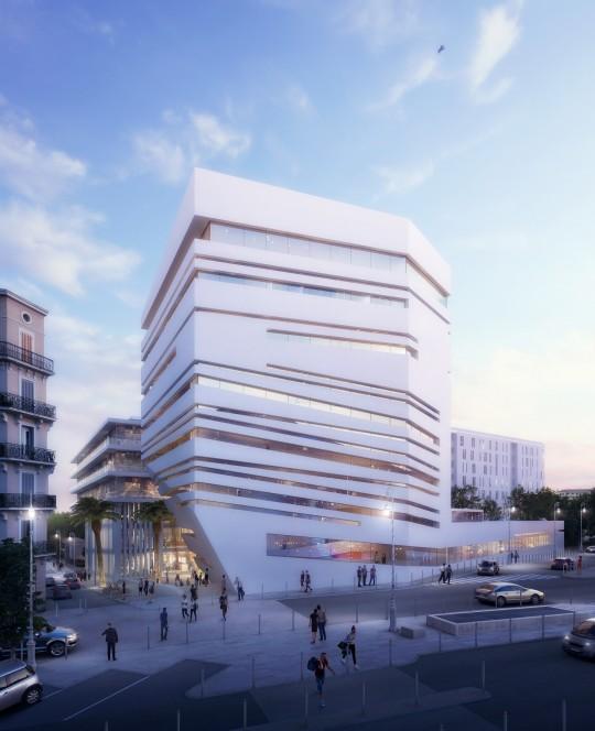 VEZZONI-Architectes-Quartier de la créativité et de la connaissance Toulon-Perspective de concours