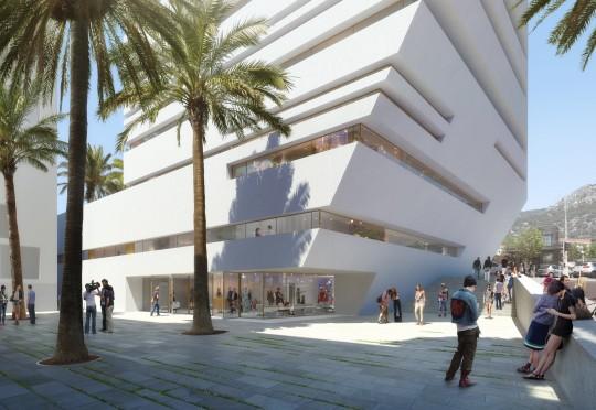 VEZZONI et Associés-Quartier de la créativité et de la connaissance Toulon-Perspective de concours