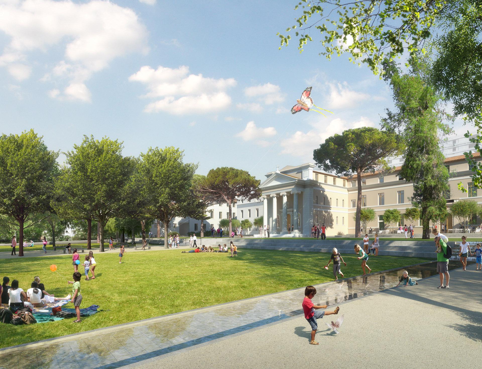 VEZZONI associés ARchitectes-Quartier de la Créativité et de la Connaissance Toulon-Perspective de concours